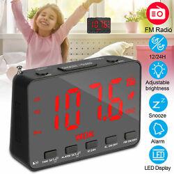 Digital LED Projection Display Alarm Clock FM Radio Weather Snooze USB Charger