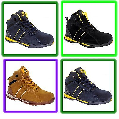 Trainer Womens Cap - NEW LADIES WOMENS  SAFETY STEEL TOE CAP TRAINER ANKLE  WORK BOOTS  sizes 3 to 9
