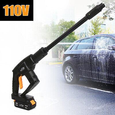 21v 2.2mpa Cordless Power Cleaner High Pressure Washer Water Spray Gun 5m Hose