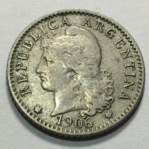 1906 ARGENTINA 5 CENTAVOS KM 34 FOREIGN COIN * FREE SHIP