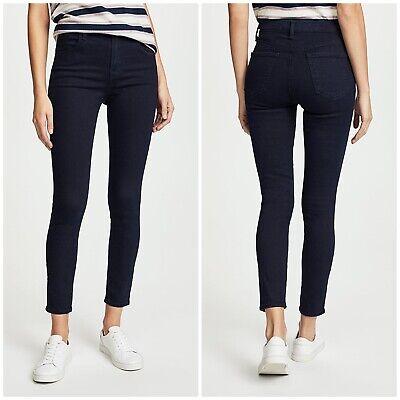 J Brand Alana High Rise Skinny Size 26 Dark Wash Stretch Denim Cropped Jeans