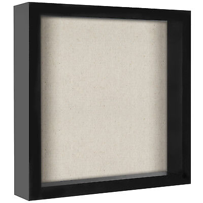 11x11 Inch Shadow Box Frame with Soft Linen Back