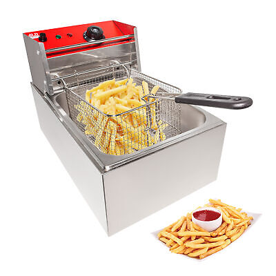 Deep Fryer Electric Fryer For Commercial Use Stainless Steel 1 Tank 6l