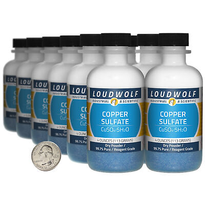 Copper Sulfate 3 Pounds 12 Bottles 99.7 Pure Reagent Grade Dry Powder