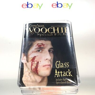 Woochie Glass Attack Cut Latex Appliance Halloween Special Effects FX Gore kit