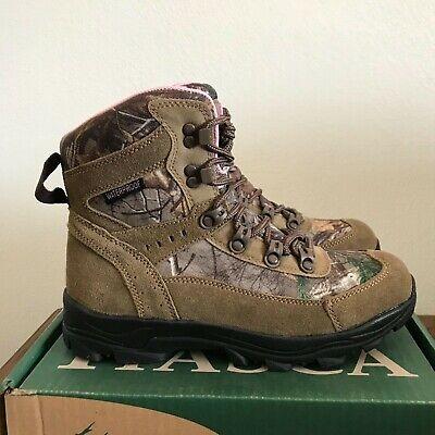 Girls Itasca Thunder Ridge Hiking Boots Realtree Xtra Pink Kid's Size 3
