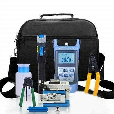 Ce Fiber Optic Ftth Tool Kit With Fc-6s Fiber Cleaver Optical Power Meter 5km
