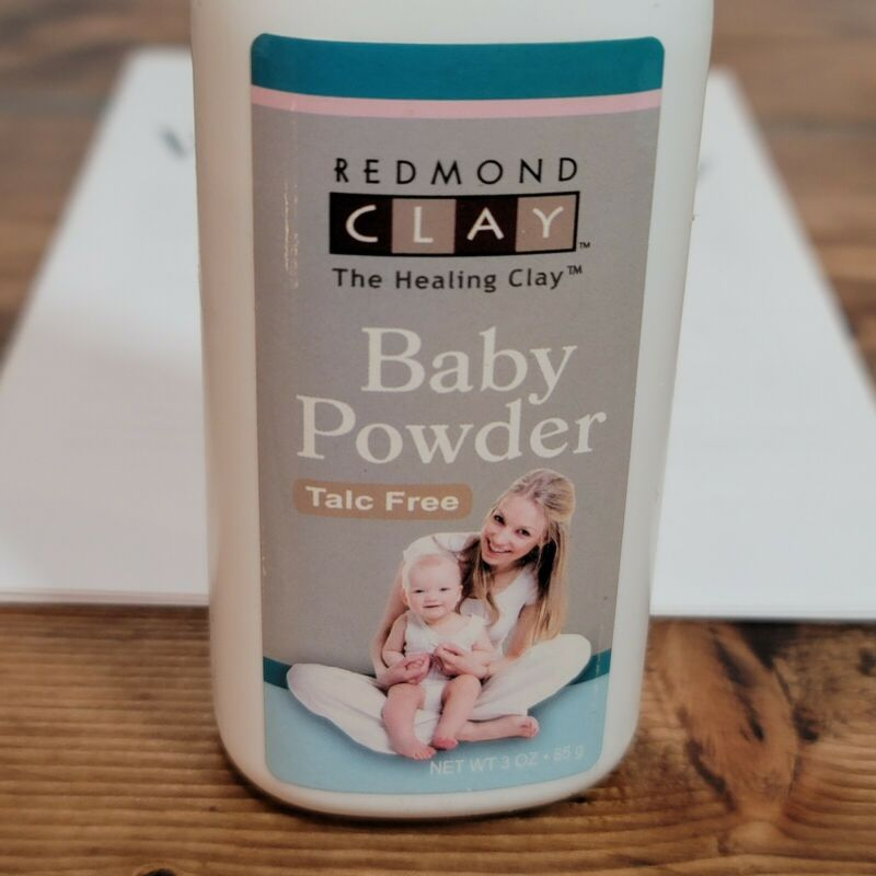 Redmond Bentonite Clay Baby Powder - Talc Free - 3 oz - All Natural