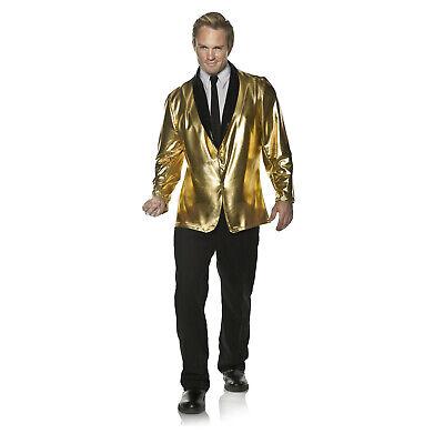 1950s Costume Men (Adult Men's Retro Style Doo Wop 1950's Halloween Costume Gold Blazer Jacket)