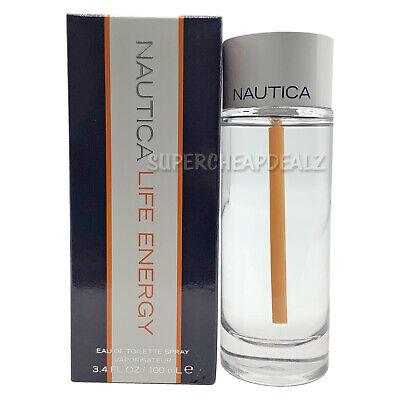 Nautica Life Energy for Men 3.4 oz Eau de Toilette Spray NIB AUTHENTIC