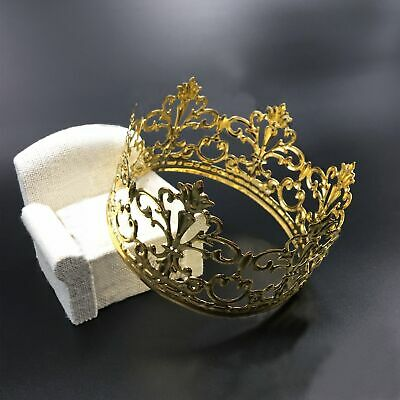 Gold Crown Cake Topper Elegant Cake Decoration For King,Queen,Prince & Princess