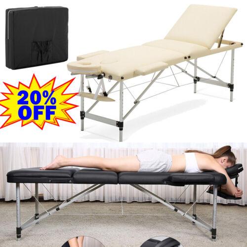 Alu Holz Massageliege Massagetisch Massagebank Therapieliege klappbar mit Tasche