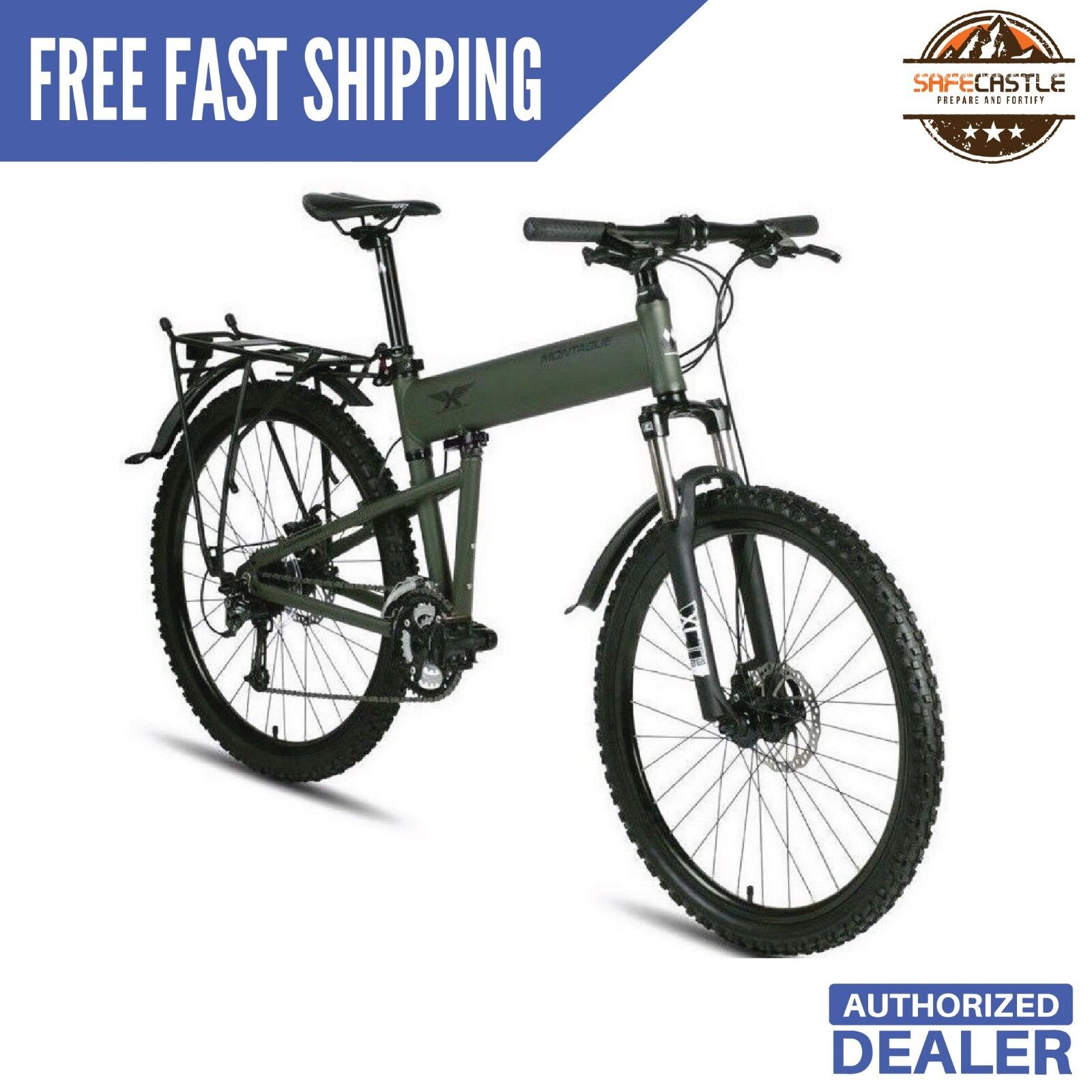 "New Montague Paratrooper 20"" Mountain Folding Bike, Free Shipping"