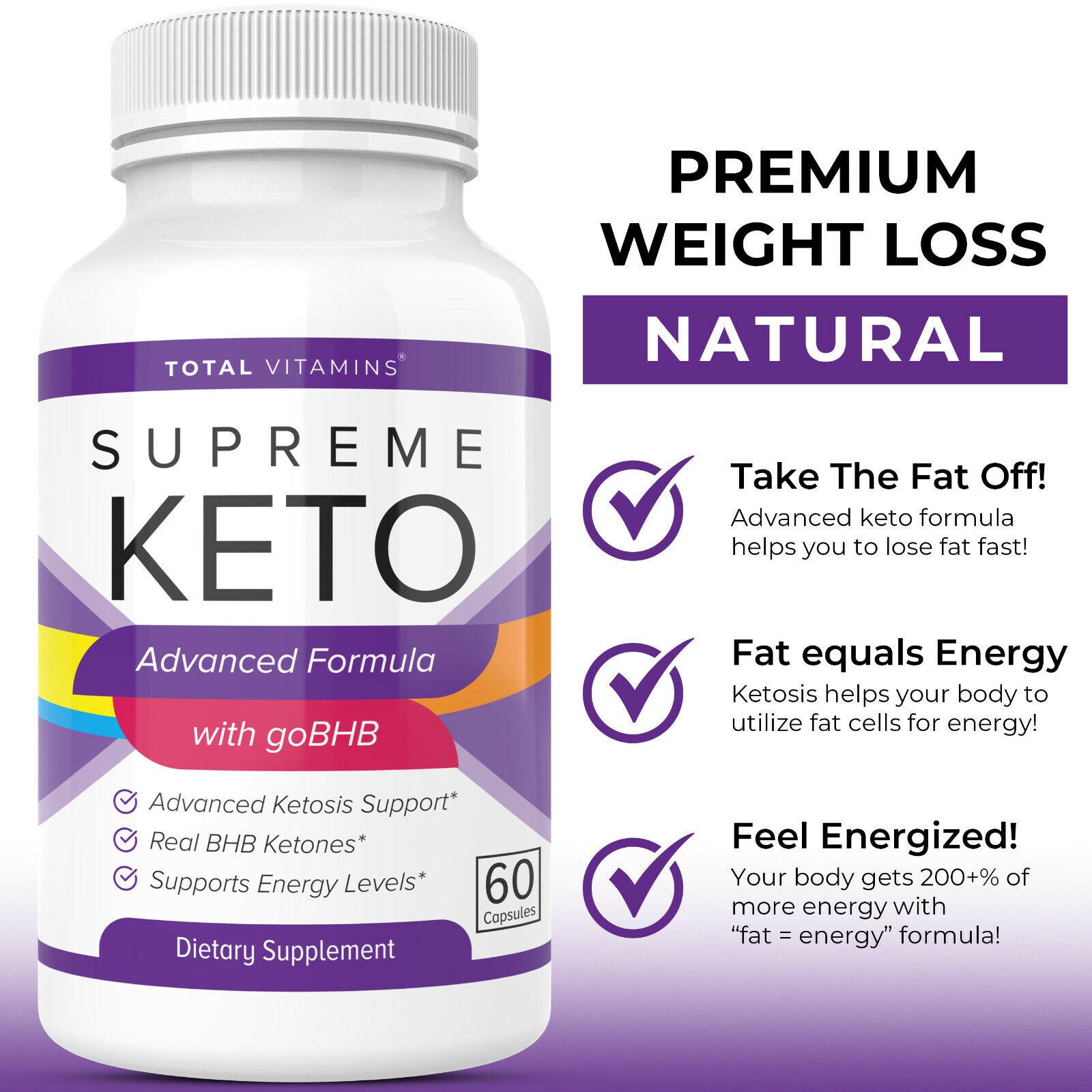 Supreme Keto Diet Pills Advanced Weight Loss BHB Ketones Fat