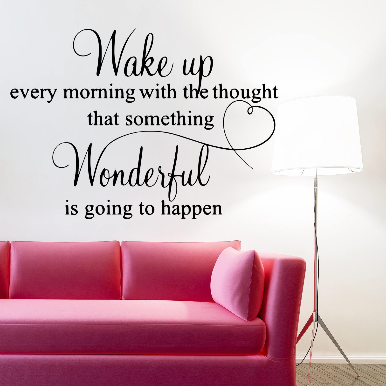 Home Decoration - Wall Stickers Wake Up Every Morning Removable Home Decor Decals, DIY quotes D