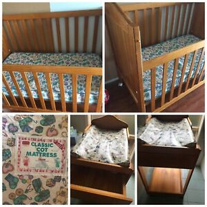 Second-hand baby cot and change table | Cots & Bedding ...