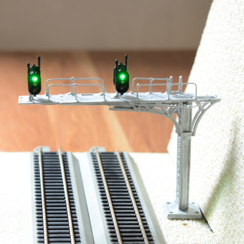 1 x HO / OO silver cantilever block signal bridge tower LED 2 Track 2 directions