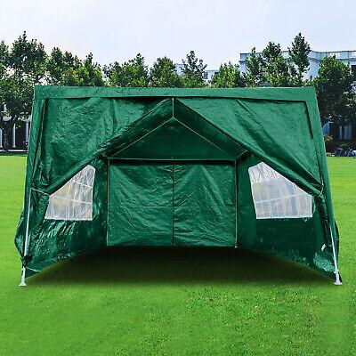 Heavy Duty Gazebo 3x4M Sides Marquee Canopy Waterproof Wedding Party Tent Green