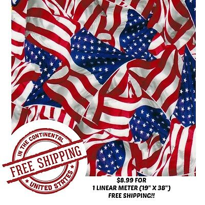 Hydrographic Water Transfer Hydro Dip Film American Flag 2 1m 19x38