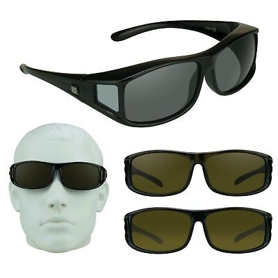 Polarisierend Groß Sonnenüberbrille Abdeckung über Rezept Brillen Angeln