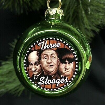 The three STOOGES  CHRISTMAS ORNAMENT Moe Larry curly ornament ()