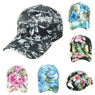 Hawaiian Baseball Cap Solid Hat Floral Tropical Fashion Hats Casual Caps - Tropical Hat