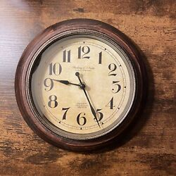 Sterling And Noble Wall Clock - WOOD ANTIQUE
