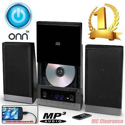 ONN Mini Stereo System ONB15AV203 CD Player W/AM/FM Stereo Radio Digital