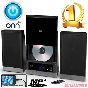 ONN Mini Stereo System ONB15AV203 CD Player W AM FM Radio Digital