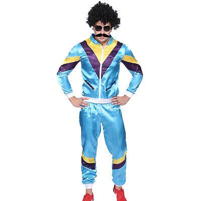 80er Jahre Herren Joggen Jogging Trikot Trainingsanzug Fasching Party Alltag