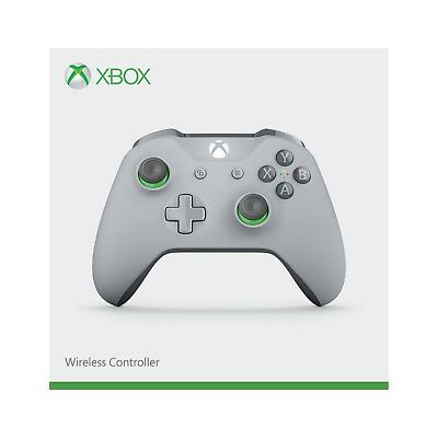 Grey/Green Wireless Xbox One Controller