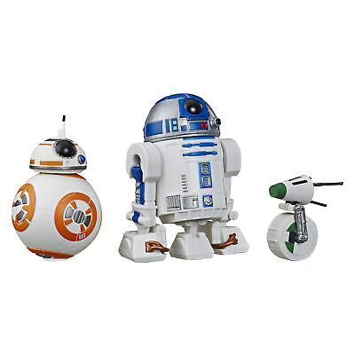 Star Wars Galaxy of Adventures R2-D2, BB-8, D-O 3-pack Toy Droid -