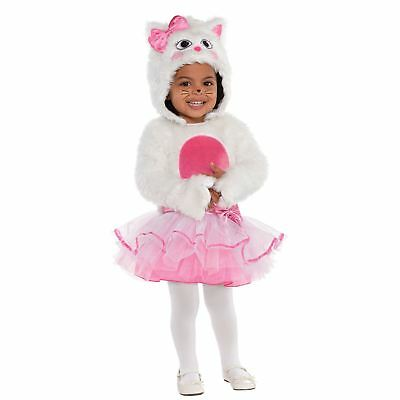 Baby Toddlers Deluxe Wee Whiskers Cat Animal Marie Tutu Fancy Dress Costume ()