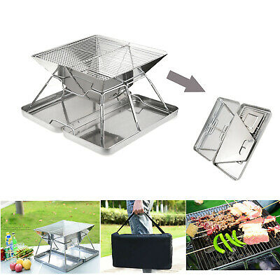Outdoor Fire Pit BBQ Firepit Brazier Garden Portable Table Stove Patio Heater BS