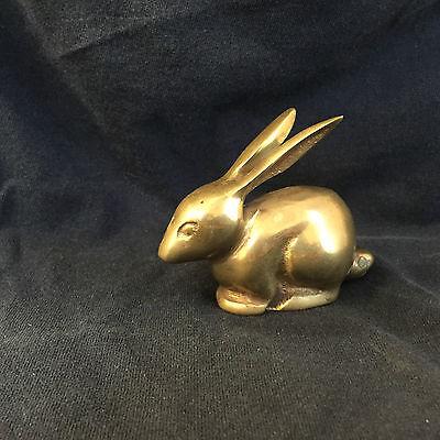 Vintage  Brass Rabbit Figurine/Statue/Souvenir/Gift/Paper Weight