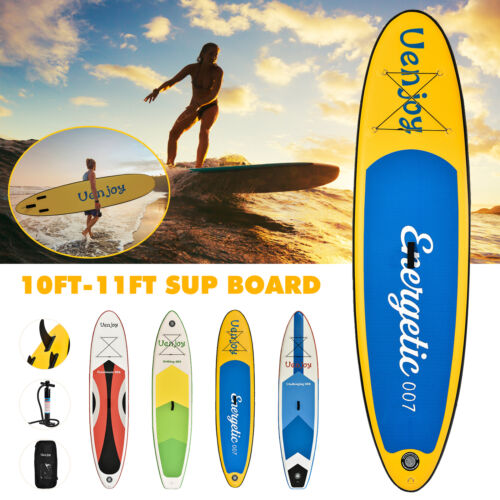 10 /11 Inflatable SUP Stand up Paddle Board Surfboard Adjustable Fin Paddle