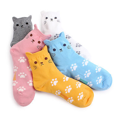 Free Shipping (5Pairs) Cat Paw Socks Kitty kitten Animal Women Kids Fashion AL