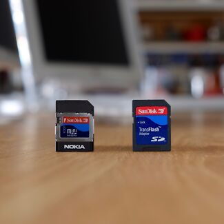Nokia Micro SD + Mini SD Card
