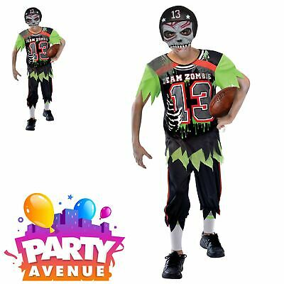 Kids Boys American High School USA Zombie Footballer NFL Halloween - Football Halloween Costumes For Boys