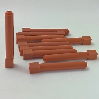 10 NEW LEGO Support 1 x 1 x 6 Solid Pillar Medium Dark Flesh