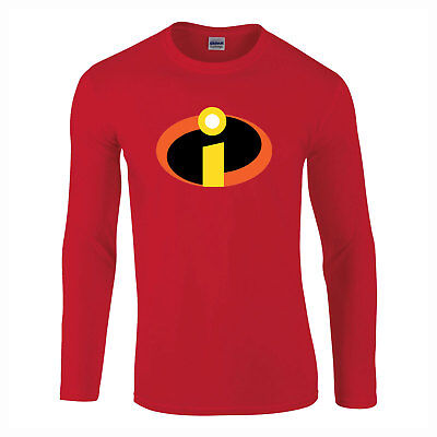 The Incredibles Superheldenkostüm Langarm Kinder Erwachsene T-Shirt