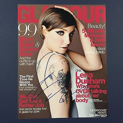 Lena Dunham Signed Autograph Girls Magazine Cover 11X14 Photo Auto Actress