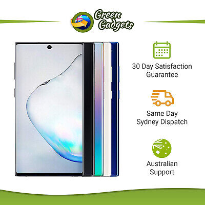 Android Phone - Samsung Galaxy Note 10 Plus - Unlocked Device - 256 512GB Black Blue White Glow