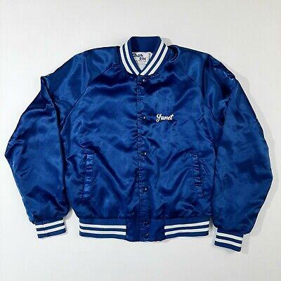 VTG Chalk Line Satin Women's Youth Jacket Size M Blue Tigers Baseball