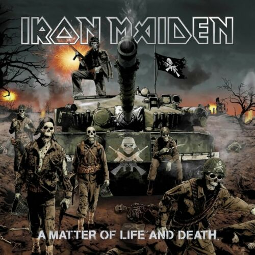 IRON MAIDEN A Matter of Life and Death BANNER HUGE 4X4 Ft Fabric Poster Flag art