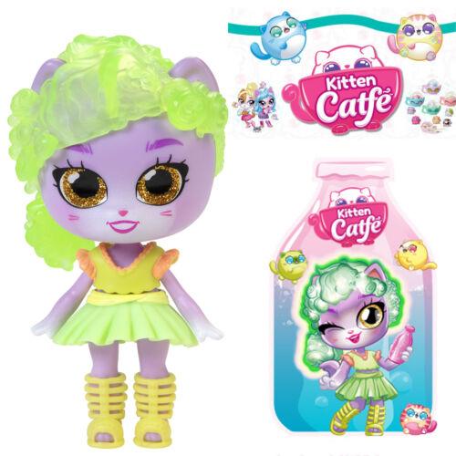 Jakks Series 5 Soda Pop PURRY MCMEW Kitten Catfe *Light Up Hair* Doll Purple