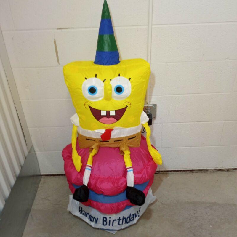 Nickelodeon's Spongebob Squarepants Happy Birthday Inflatable 4ft tall airblown
