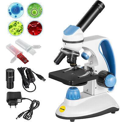 Vevor Pro Digital Compound Microscope 1000x Dual Light Student Lab W Usb Camera