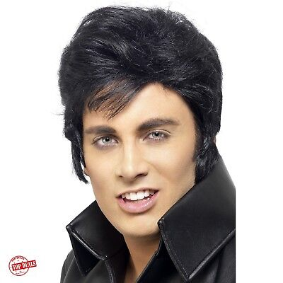 Elvis Presley Wig For Men Women Kid Costume Accessories Halloween Black Best - Best Costumes For Men