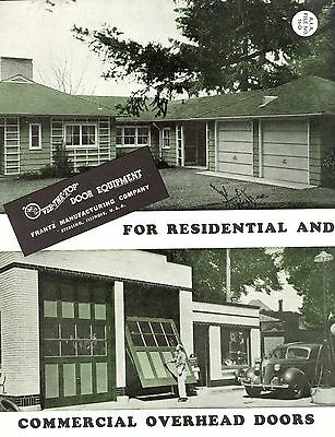 Residential Commercial Overhead Doors Franz Manufacturing Co 1947 Brochure